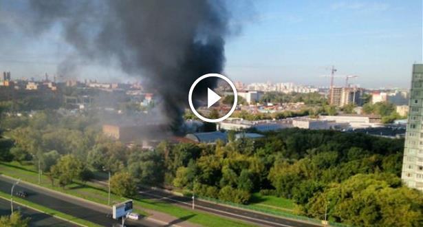 فيديو .. مصرع 16 شخصا جراء حريق مهول في موسكو
