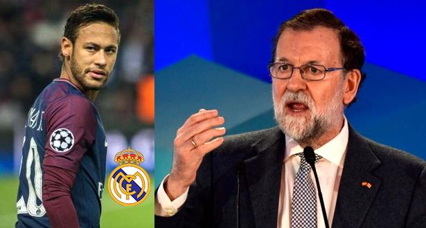 رئيس وزراء إسبانيا: لا أتمنى مشاهدة نيمار بقميص ريال مدريد