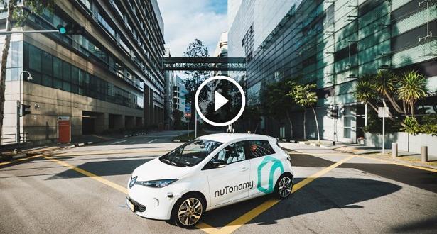 Vidéo...Singapour: une première, un taxi sans chauffeur