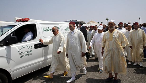 Obsèques à Rabat d'Abdelkebir Alaoui M'daghri