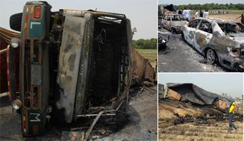 Un camion-citerne s'enflamme au Pakistan, au moins 140 morts