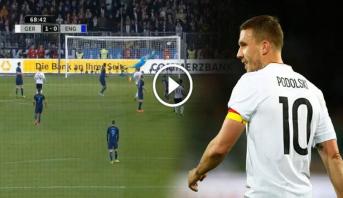 فيديو .. هدف عالمي لبودولسكي في مباراة تكريمه بعد اعتزاله