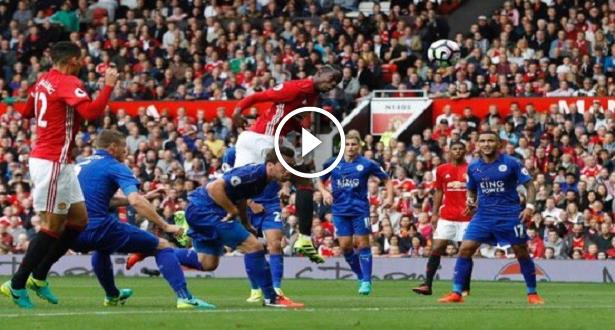 Vidéo:  Pogba marque son premier but avec Manchester United contre Leicester