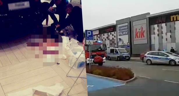 Pologne: attaque au couteau dans un centre commercial