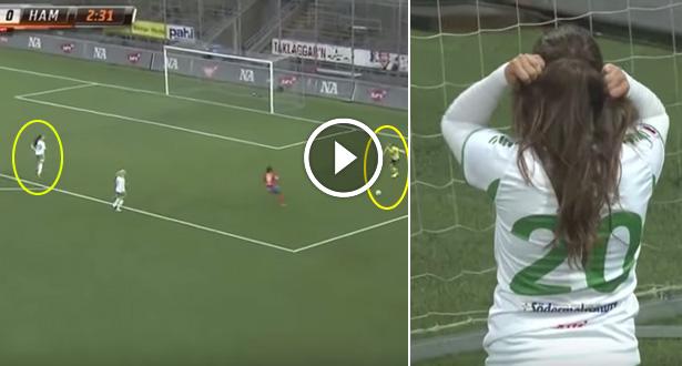 Vidéo: une footballeuse s'emmêle les pinceaux et marque contre son camp