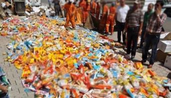 حجز وإتلاف 33 طن من المواد الغذائية الفاسدة خلال شعبان