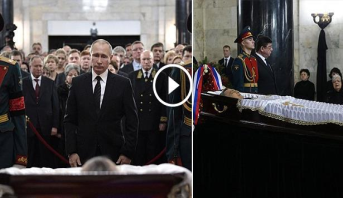 فيديو .. روسيا تدفن سفيرها لدى تركيا بعد مراسم تأبين مهيبة