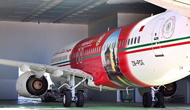 صور.. طائرات الخطوط الملكية تحلق بألوان مؤتمر المناخ