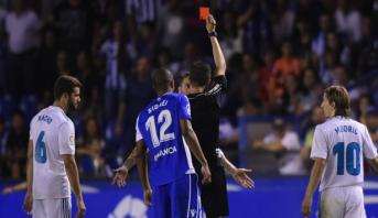 سيرخيو راموس نال البطاقة الحمراء الـ 23 مع ريال مدريد