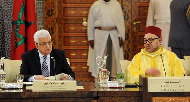مباحثات هاتفية بين الملك محمد السادس ورئيس دولة فلسطين