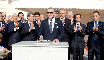الملك محمد السادس يضع الحجر الأساس لبناء مركز لإعادة التأهيل النفسي- الاجتماعي بالمركز الاستشفائي الجامعي ابن رشد