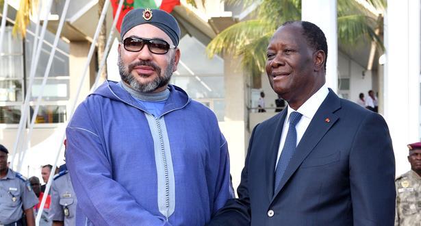 برقية تعزية من الملك محمد السادس إلى الرئيس الإيفواري على إثر الفيضانات التي ضربت العاصمة أبيدجان