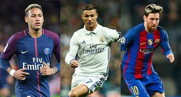 Joueur Fifa de l'année: Neymar, Messi et Ronaldo nommés pour le titre
