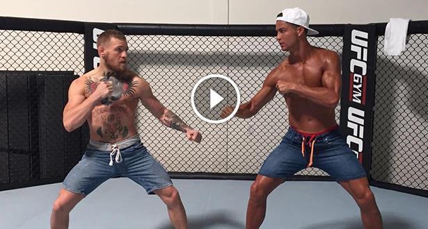 Vidéo et photos: quand Ronaldo défie un champion du monde MMA