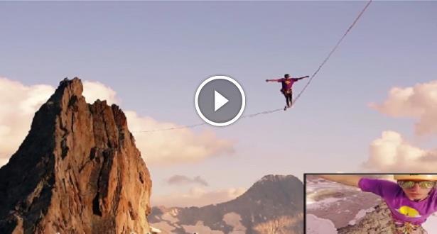 Vidéo: à 3000 m d'altitude, ils traversent une slackline de 200m!