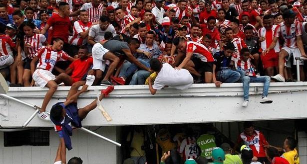 كولومبيا..تدافع بالمدرجات كاد يودي بحياة عدد من المشجعين