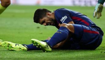Luis Suarez absent environ un mois
