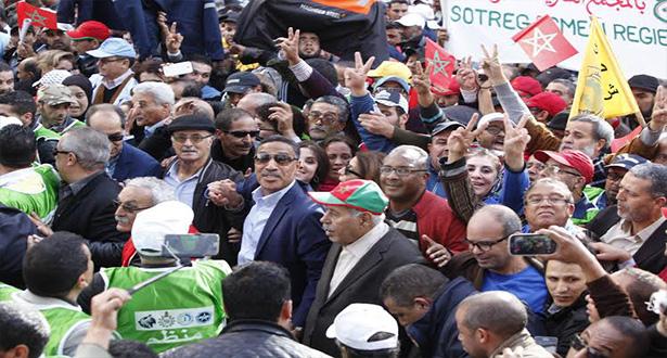 Marche ouvrière à Casablanca à l'appel de quatre centrales syndicales