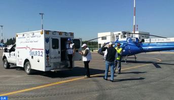 نقل مولود خديج من العيون إلى المركز الاستشفائي الجامعي بمراكش بواسطة مروحية طبية