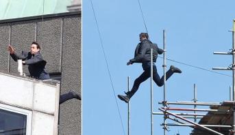 """إصابة توم كروز خلال تصوير مشهد """"انتحاري"""" من سلسلة """"مهمة مستحيلة 6"""""""