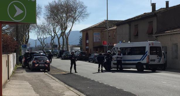 فيديو .. الصور الأولى لمنطقة احتجاز الرهائن بفرنسا