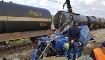Tanger: 6 morts et 14 blessés dans un accident entre un train de marchandises et un véhicule de transport de personnel