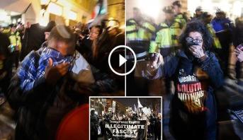 فيديو .. احتفالات واحتجاجات تستهل رئاسة ترامب لأمريكا