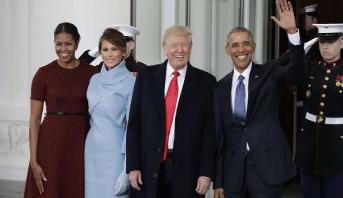 فيديو.. دونالد ترامب يصل البيت الأبيض قبل تنصيبه رئيسا لأمريكا