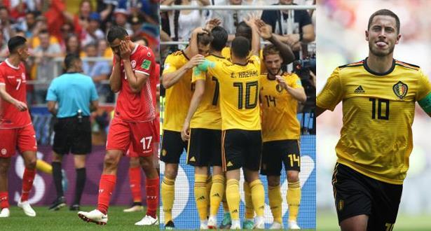 Mondial 2018: la Belgique écrase la Tunisie (5-2)