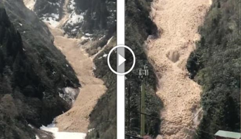 فيديو .. مشاهد لانهيار طيني ضخم شرق تركيا