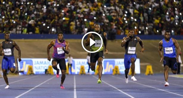 Jamaïque: Bolt fait ses adieux à son public sur une victoire