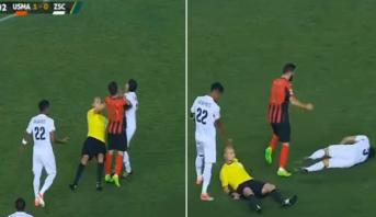توتر وندية وبطاقات حمراء ولقطة طريفة للحكم في مباراة اتحاد الجزائر والزمالك