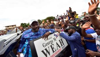 نجم كرة القدم السابق جورج ويا يتصدر أول جولة بانتخابات الرئاسة في ليبيريا