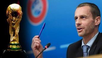 """الرئيس الجديد لـ """"اليويفا"""" .. """" لن تستطيع افريقيا أبدا تنظيم كأس العالم"""""""