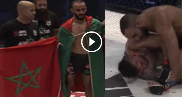 فيديو ..  المغربي عثمان زعيتر يهزم خصمه الأرجنتيني تحت أنظار أخيه أبو بكر