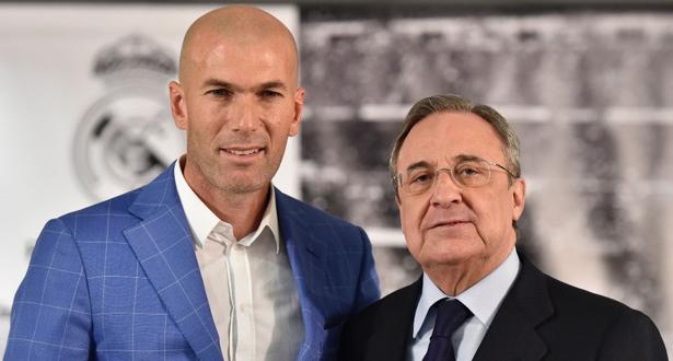 صحيفة إسبانية : الكشف عن تفاصيل العقد الجديد لزيدان