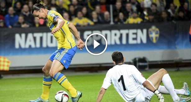فيديو .. ابراهيموفيش يخدع حارس مولدوفا ويسجل هدفا رائعا
