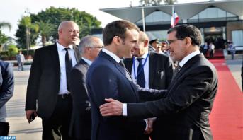 الرئيس الفرنسي يغادر المغرب في ختام زيارة عمل بمناسبة تدشين خط القطار فائق السرعة
