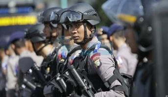 إندونيسيا.. اعتقال 36 مسلحا قبيل حفل تنصيب الرئيس لولاية ثانية