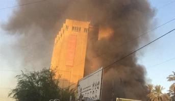 مصرع خمسة أشخاص جراء حريق في فندق وسط بغداد