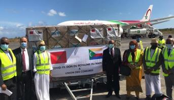 كوفيد- 19.. وصول المساعدات الطبية المغربية إلى موروني بجزر القمر