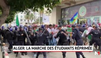 Alger: la marche des étudiants réprimée