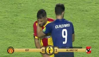 هدف أزارو يقود الأهلي المصري إلى هزم الترجي التونسي وحسم الصدارة في دوري الأبطال