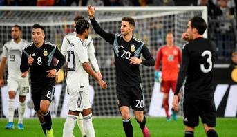 المنتخب الأرجنتيني ينجو من الخسارة في مواجهة ودية مع نظيره الألماني
