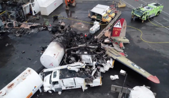 مصرع 7 أشخاص على الأقل إثر تحطم طائرة بولاية كونيتيكت الأمريكية