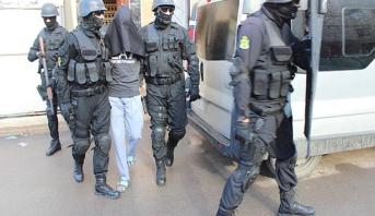"""Démantèlement d'une cellule terroriste composée de trois individus partisans de """"Daech"""" s'activant à Kénitra"""