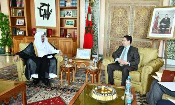 بوريطة يجري مباحثات مع رئيس مجلس الشورى السعودي
