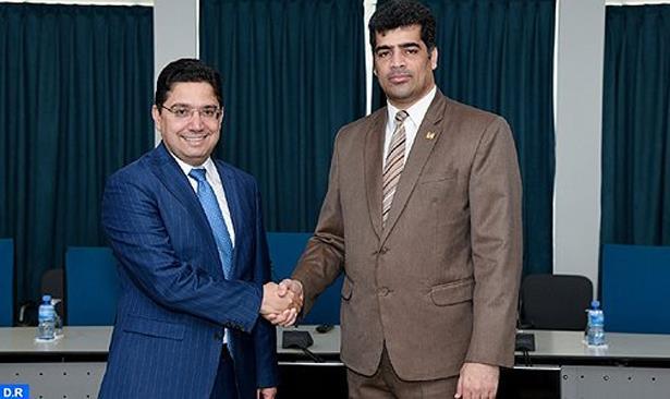 نائب رئيس جمهورية السورينام يستقبل بوريطة