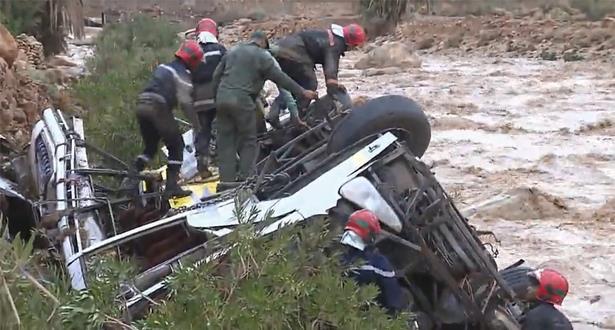Renversement d'un autocar à Errachidia: le chauffeur qui a pris la fuite après l'accident se rend aux autorités sanitaires
