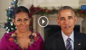 Vidéo: Dernier message de Noël pour le couple Obama